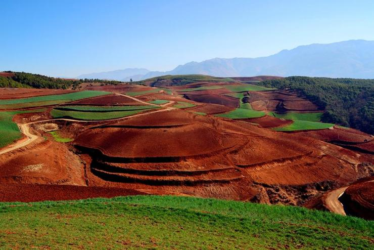 dongchuan red map by stupid tiger
